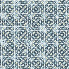 Miro (110237) - Scion Wallpapers - A stylish small scale geometric pattern in a subtle design. Showing in a navy blue on a off white background with blue and green highlights. Other colour ways available. Please request a sample for true colour match. Paste-the-wall.