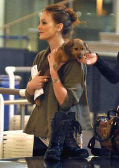 leighton and her puppy