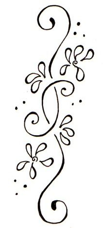 Flower Vine Tattoo Design
