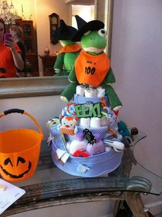Halloween themed #diaper cake   Made by Nicole Holcomb  nicoleholcomb@hotmail.com