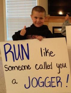 A collection of the signs that inspire us when we run races. Running Signs, Running Posters, Running Race, Get Running, Running Humor, Running Quotes, Running Motivation, Marathon Signs, Marathon Posters