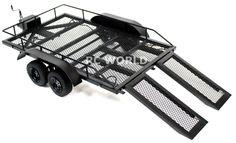 RC Scale Accessories All Metal Dual Axle Trailer w Leaf Suspension 1 10 Scale | eBay