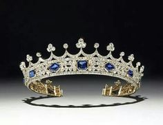Sapphire and diamond tiara 1842 designed by Prince Albert for Queen Victoria.