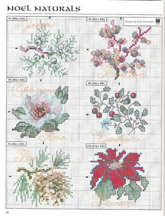 Noel Naturals 3 of 4 Cross Stitch Christmas Ornaments, Xmas Cross Stitch, Cross Stitch Needles, Cross Stitch Cards, Christmas Embroidery, Cross Stitch Flowers, Christmas Cross, Cross Stitching, Cross Stitch Embroidery