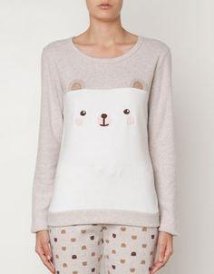Fleece top with animal patch - T-shirts - Sleepwear - Saudi Arabia
