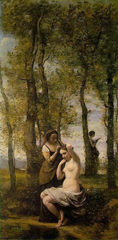 Painter: Jean-Baptiste Camille Corot Title: La Toilette Date: 1859