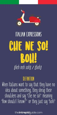 Want to sound more Italian or want to know why Italians say 'Magari' all the time? Here are the Top 10 Italian Expressions Italians Love Saying. Italian Grammar, Italian Vocabulary, Italian Phrases, Italian Words, Italian Quotes, Italian Proverbs, Italian Lessons, French Lessons, Spanish Lessons