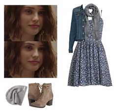 Hannah Baker - 13 reasons why / 13rw by shadyannon on Polyvore featuring polyvore fashion style Liz Claiborne Madden Girl H&M Converse clothing