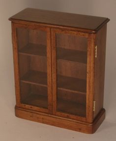 Glass Door Bookcase by Alan Barnes - $625.00 : Swan House Miniatures, Artisan Miniatures for Dollhouses and Roomboxes