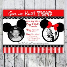 Get Minnie and Mickey Birthday Invitations
