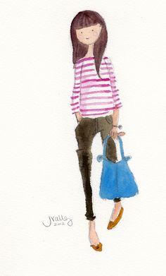 "5 x 7"" Giclée Prints / Sophie & Lili"
