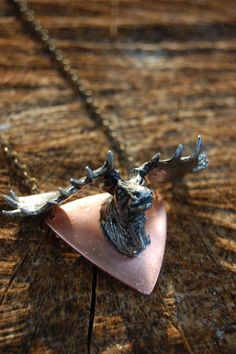 Mounted Moose Necklace. /lux frontier collection $40 @Peter Thomas Koryzno made me think of you!