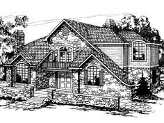 French Country House Plan with 3611 Square Feet and 6 Bedrooms(s) from Dream Home Source | House Plan Code DHSW01144
