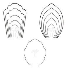 Pdf Set Of  Flower Templates And  Leaf Template Giant