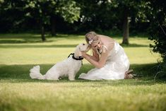 Photo of a bride and her dog at Wethele Manor in Warwickshire Photo by Sarah Vivienne Photography Wedding Dress Boutiques, Bridal Fashion, Vivienne, Bridal Style, Wedding Styles, Your Dog, Weddings, Bride, Dogs