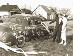 """""""Just Married!"""" – A Collection of 17 Cool Wedding Cars from the Past"""