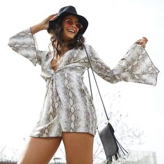 what to wear to Coachella, what to wear to music festival, festive outfit ideas, festival looks, festival fashion, festivalsmusic festival outfits, hippie festival clothing, boho festival outfits, edm festival outfits, two piece festival set Edm Festival, Hippie Festival, Festival Looks, Festival Wear, Festival Outfits, Festival Fashion, Snake Print Dress, Festival Clothing