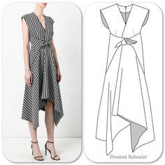 Trapeze Hem dress (silk/viscose) Abstract Grid Print ❤️ – MY World Fashion Sewing, Fashion Clothes, Fashion Dresses, Dress Sewing Patterns, Clothing Patterns, Easy Dress Pattern, Shirt Patterns, Pattern Sewing, Pants Pattern