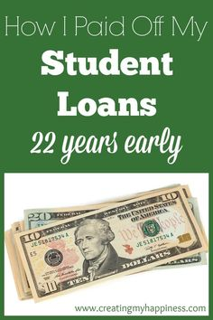 Are you burdened by student loan debt, or any kind of debt? Read on for realistic, manageable steps you can take to pay off your loans early and save money Student Loans Payoff #StudentLoans #debt