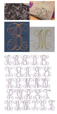 Embroidery | Machine Embroidery Monograms | Embroidery Bean Stitch Interlaced Monogram