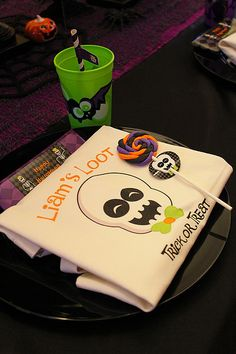 Personalized Halloween Trick Or Treat Canvas by PartyPlanItDesigns, $12.00