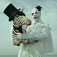 My girlfriend and I are Mothmeister. We create Wounderland – a weird and wonderful universe. We portray anonymous, ugly masked creatures as a reaction against the dominant exhibitionism of the selfie culture and beauty standards marketed by the mass media.""