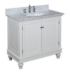 Bella 36 Inch Bathroom Vanity Carrera White Includes A Solid