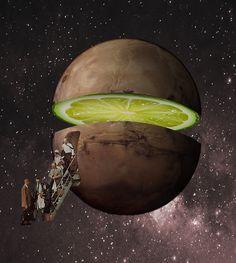 Mars Airlines #collage #illustration #artwork