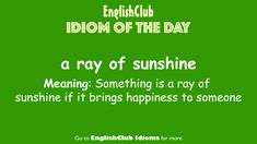 English Idioms, Learn English, Cool Words, Meant To Be, Bring It On, Learning, Day, Tips, Learning English