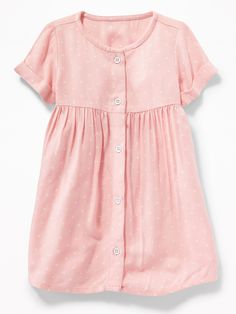 57a5d042878 Fit  amp  Flare Roll-Sleeve Shirt Dress for Baby