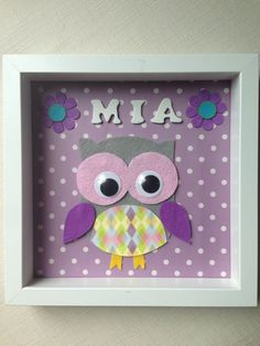 Handmade personalized frame boy name newborn gift liam new baby handmade personalized frame girls name newborn gift mia new baby girl ideal for babyshower negle Images