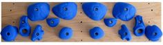 Completed Hang Board--how to build your own climbing wall--awesomesauce!