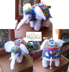 Crochet Elephant free pattern. http://designerhands.wordpress.com/2013/01/11/the-elephant-pattern/