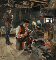 Akseli Gallen-Kallela (Pori, † w Finnish painter. Teacher of Hugo Simberg, also an important Finnish symbolist. Modern Art, Painter, Art Database, Painting, Visual Art, Art, Impressionist, City Art, Purchasing Art
