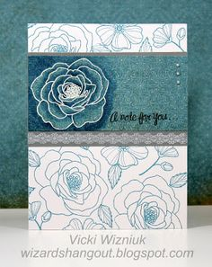Card Puzzle stamp set  CTMH Florentine Paper Card by Vicki