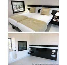 Jessica pinna - ard3sign - design mobilier - création tete de lit - hotel - tete de lit noir et blanc - Hotel Nice 06