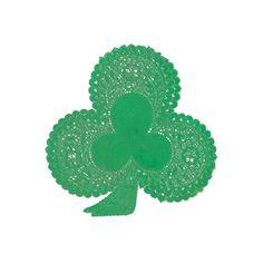 "18pk 6"" Foil Green Shamrock Doilies St. Patricks Good Luck Papercrafts Cards NEW #RoyalLace #StPatricksDay"