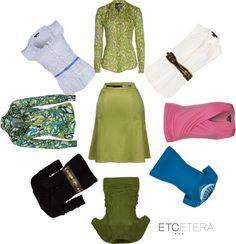 "A great neutral! ""Chartreuse Skirt"" by etcetera-NYC"