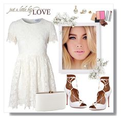"""""""Just a little bit of Love....."""" by christinacastro830 ❤ liked on Polyvore featuring Glamorous and Aquazzura"""