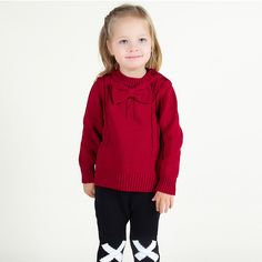 >> Click to Buy << Fashion Girl Sweaters Casual Cotton Crochet Toddler Top Knitted Christmas Sweater Bow Cute Clothes Outfit Warm Children Clothing #Affiliate