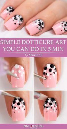 Simple dotticure nail art tutorial.