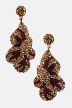 Champagne Crystal Lilian Earrings | Awesome Selection of Chic Fashion Jewelry | Emma Stine Limited