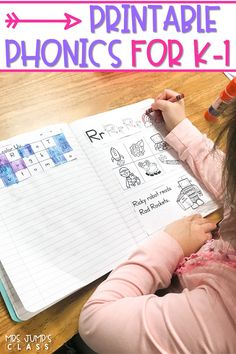 Phonics lessons and activities for kindergarten and 1st grade. Interactive printables for your daily phonics instruction. You will love these phonics lesson for the entire year!