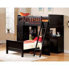 Loft/Bunk bed with desk area