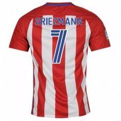 8aa680c47 Atletico Madrid 16-17 Season Home  7 Griezmann Soccer Jersey  G746