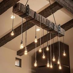 Industrial upcycled light fixture with multiple bulbs
