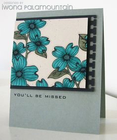 Card layout with notebook paper as a part of the focal point.