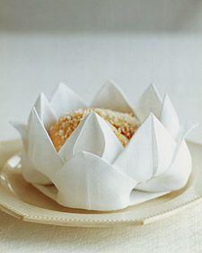 Napkin Folding: Rose