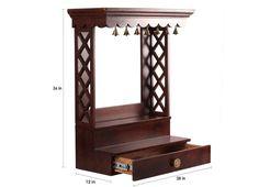 Home Decor Furniture, Furniture Design, Furniture Online, Wooden Furniture, Temple Room, Home Temple, Temple Design For Home, Wooden Temple For Home, Mandir Design