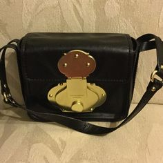 Cynthia Rowley Small Shoulder Bag Authentic black leather shoulder bag NWOT with gold hardware. Measurements 7x 2.5x 6 Cynthia Rowley Bags Shoulder Bags